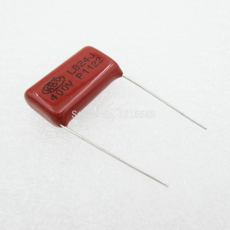 10PCS/Lot 0.82uF 820nF 400V CBB Polypropylene Film Capacitor Pitch 20mm 824 820nF 400V NEW