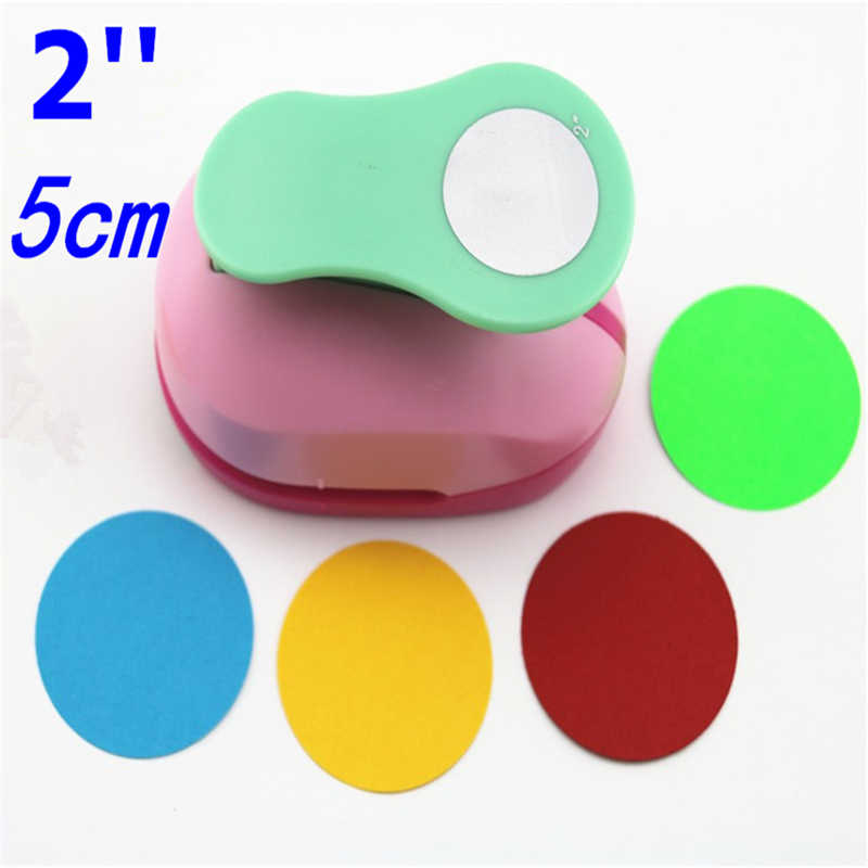 Envío Gratis grande 2 ''5 cm círculo furador perforadoras para colección de recortes artesanía perfurador diy perforador de papel círculo cutter3178B