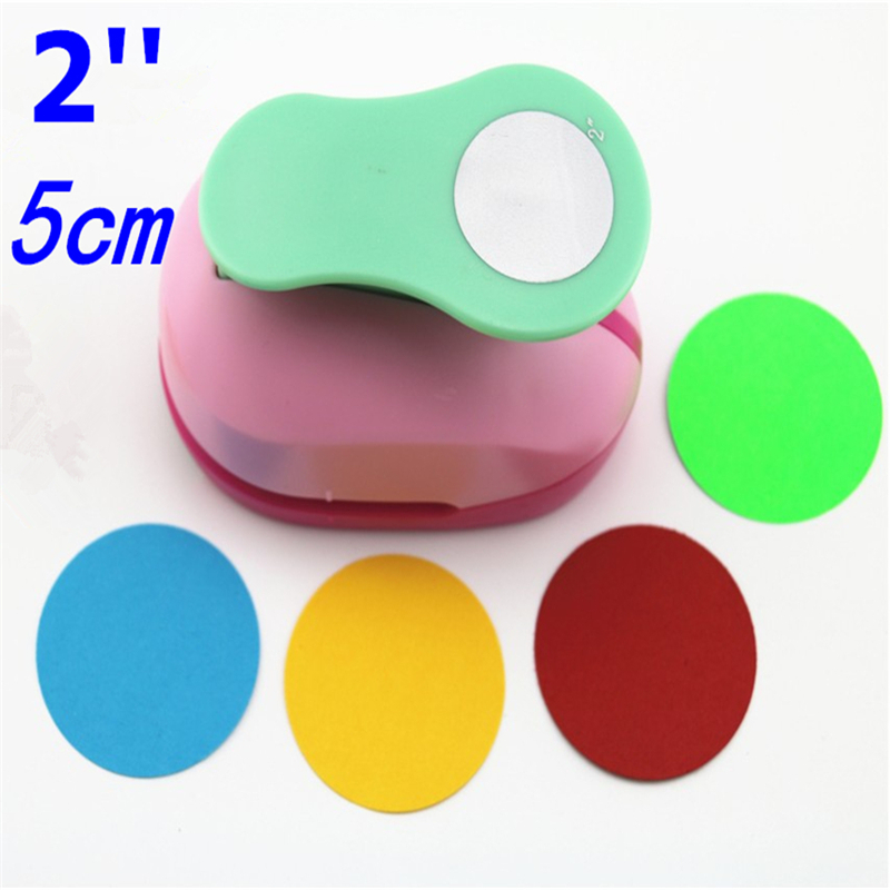 free ship large 2'' 5cm circle furador paper punch scrapbooking punches craft perfurador diy puncher paper circle cutter3178B