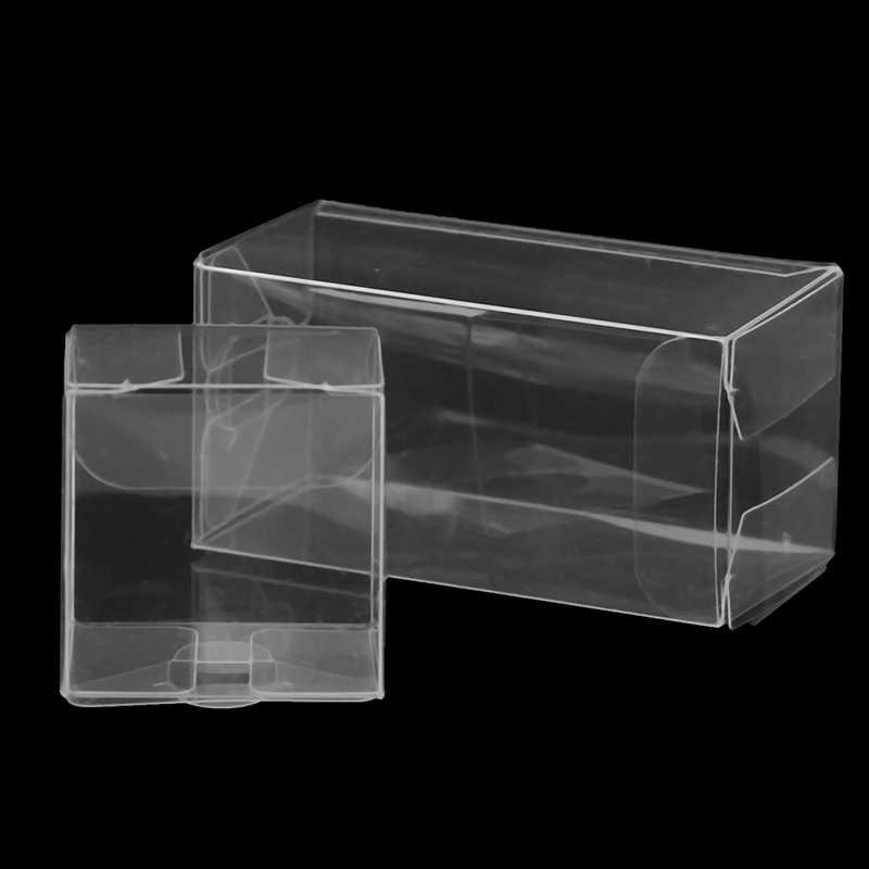10 ピース/ロットバッグボックス結婚式の好意パーティーイベントの装飾透明クリアギフトキャンディーボックス正方形 PVC チョコレート