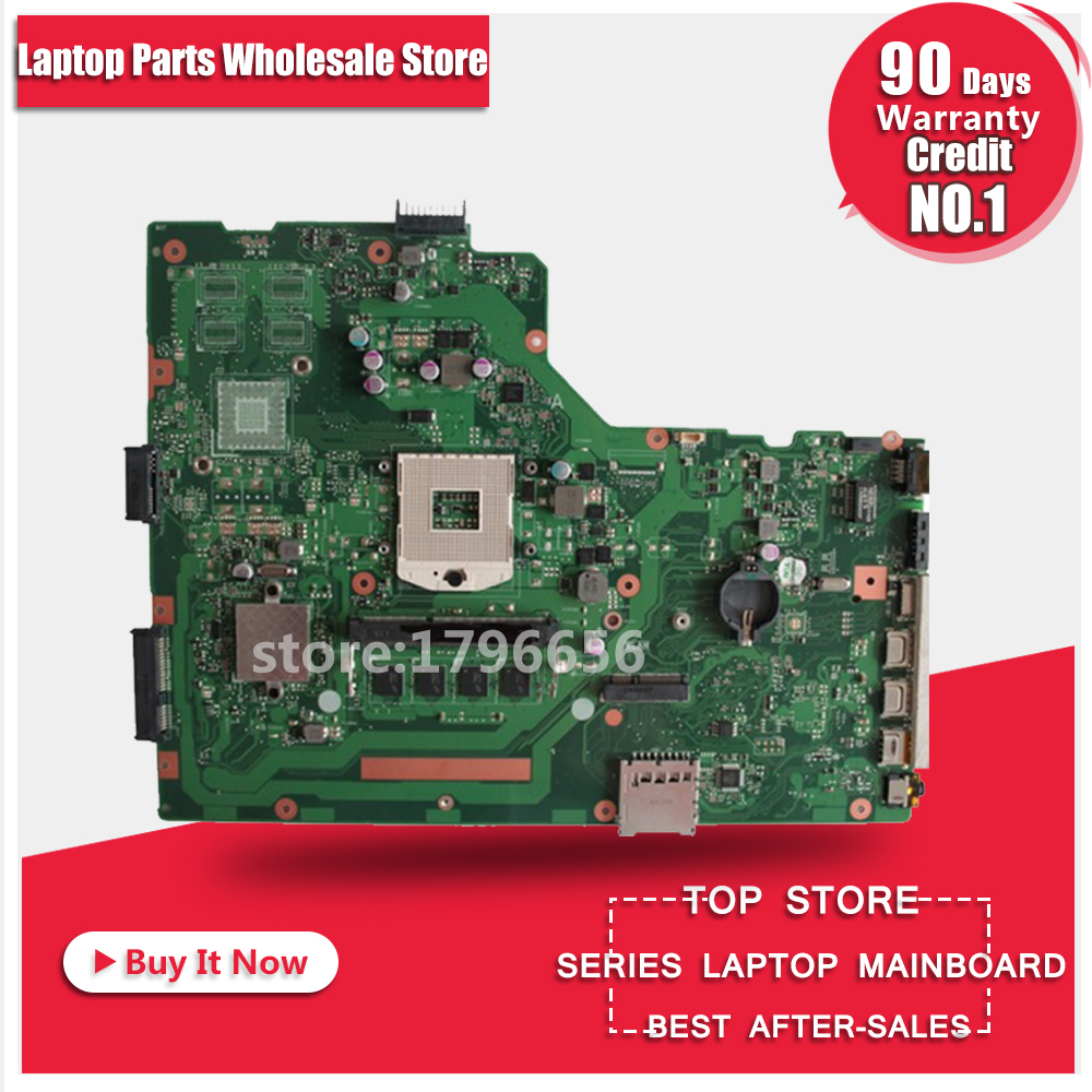 For ASUS A75A X75A X75A1 X75VB laptop motherboard HM76 REV:2.0 4GB RAM PGA989 mainboard 100% working n56vm rev 2 3 laptop motherboard suitable for asus n56vm n56vj n56vz gt630m hm76 system motherboard original new