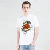 2017 Free Shipping New Heart Symbols Rose Tattoos Brand T Shirt Cool Funny Print Tops Modal