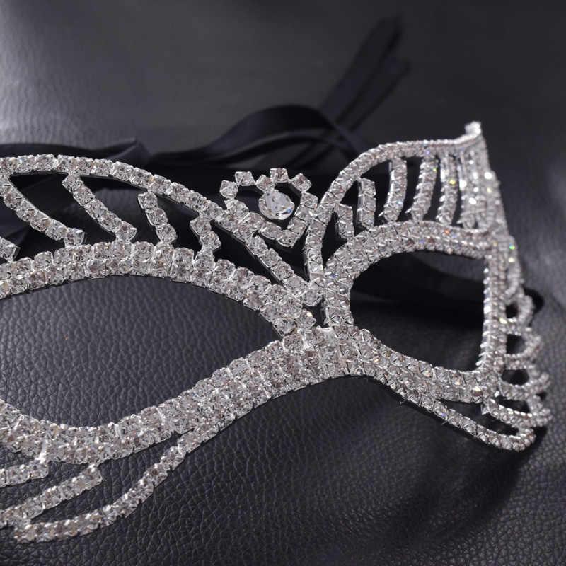 887ed5db0c Sweetheart women party mask rhinestones Masquerade Masks Crystal Christmas  Halloween festival Anonymous Mardi girls jewelry