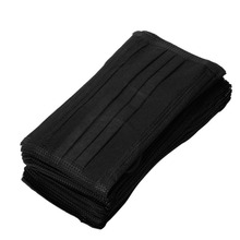 50pcs/pack Black Non Woven Disposable Face Mask  Medical dental Earloop Activated Carbon Anti-Dust Face Surgical Masks