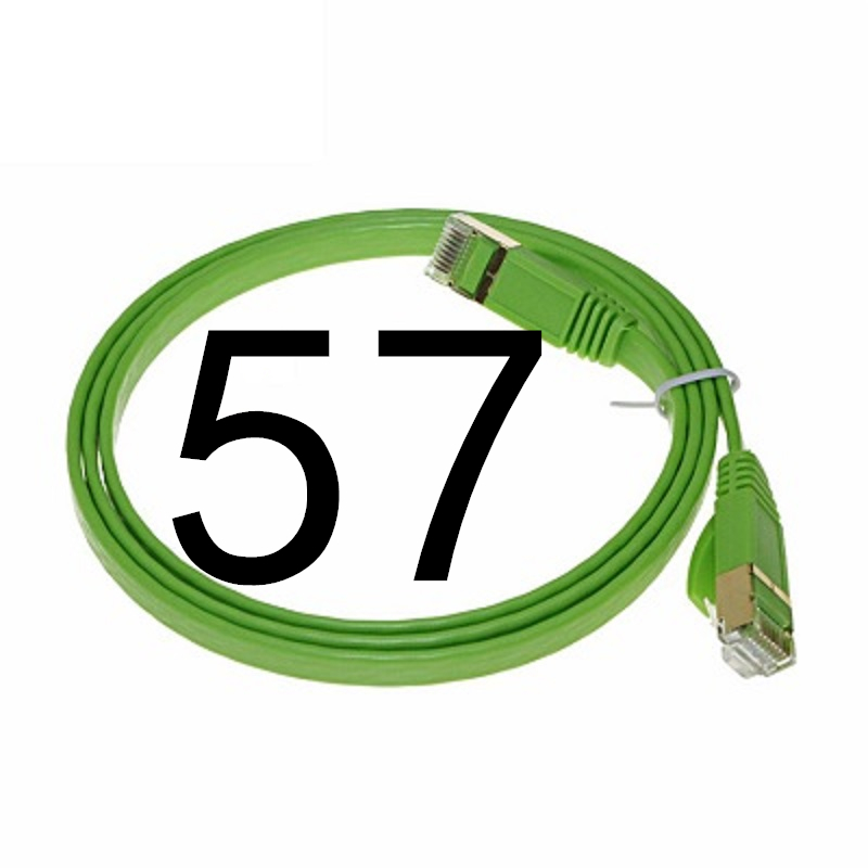 57 MEIBAI CAT5 Flat Ethernet Cable Networking Ethernet Patch Cord LAN Cable CAT5