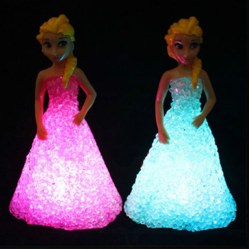 Zk30 New Kids Toys Elsa/ Anna LED Colorful Lights gradient cs