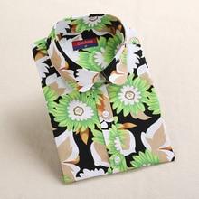 Dioufond Women Print Shirt Summer Cotton Ladies Tops Long Sleeve Blusas Femininas Plus Size 5XL Shirt Women Pineapple Blouse