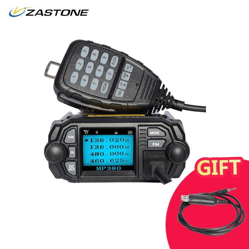 Zastone zt-Mobile Radio Walkie Talkie MP380 VHF 136-174 mhz UHF 400-480 mhz 25 w/20 w Dual Band Mini Auto Stazione Radio A Due Vie Radio