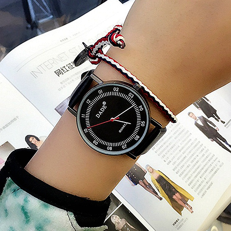 цена на DADE Fashion New Women Watches 2017 Top Luxury Brand Leather Quartz Watch Women gift Clock Relojes Mujer Casual montre femme