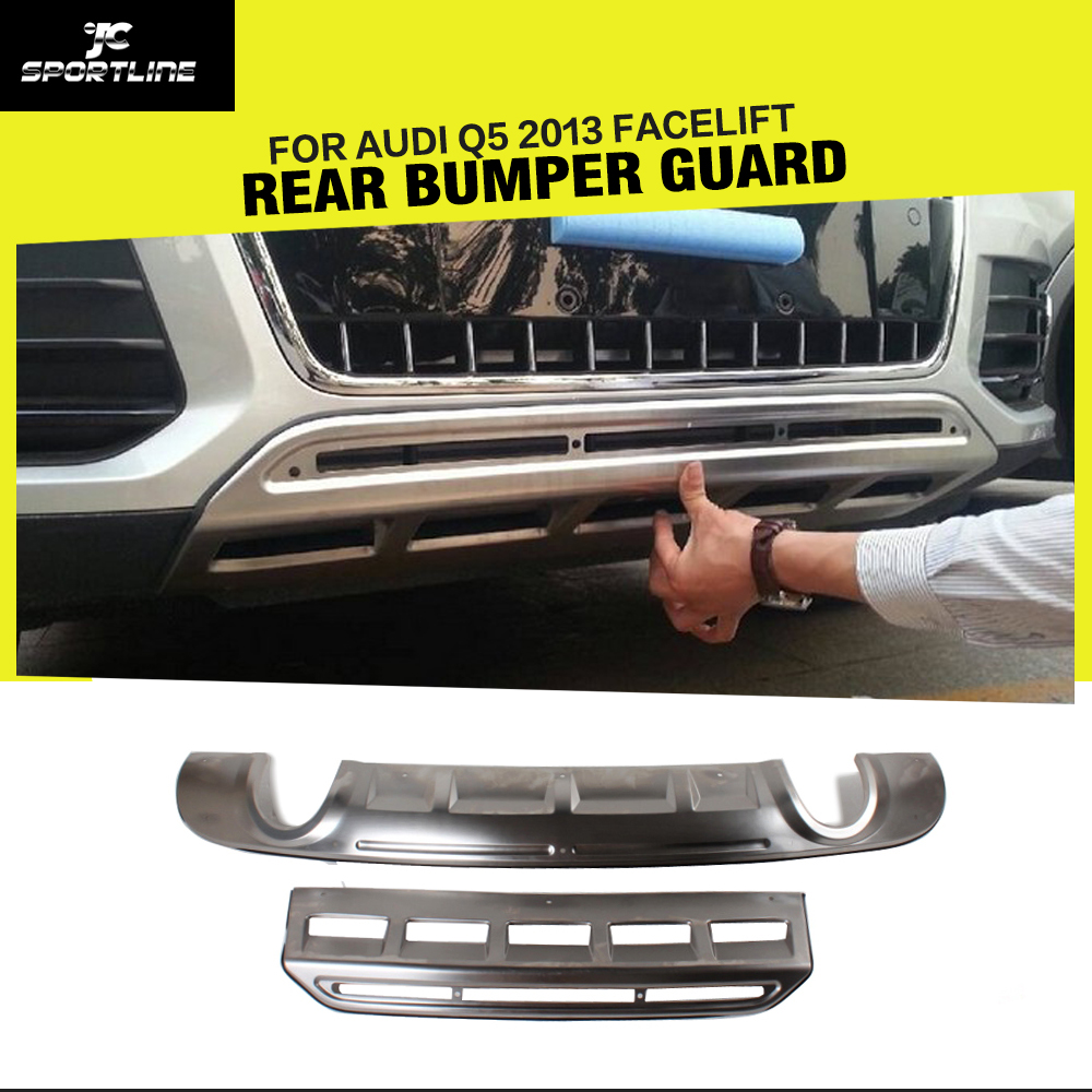 Stainless Steel Car Front Bumper Guard Car Rear bumper guard For Audi Q5 2013-2015 the white guard