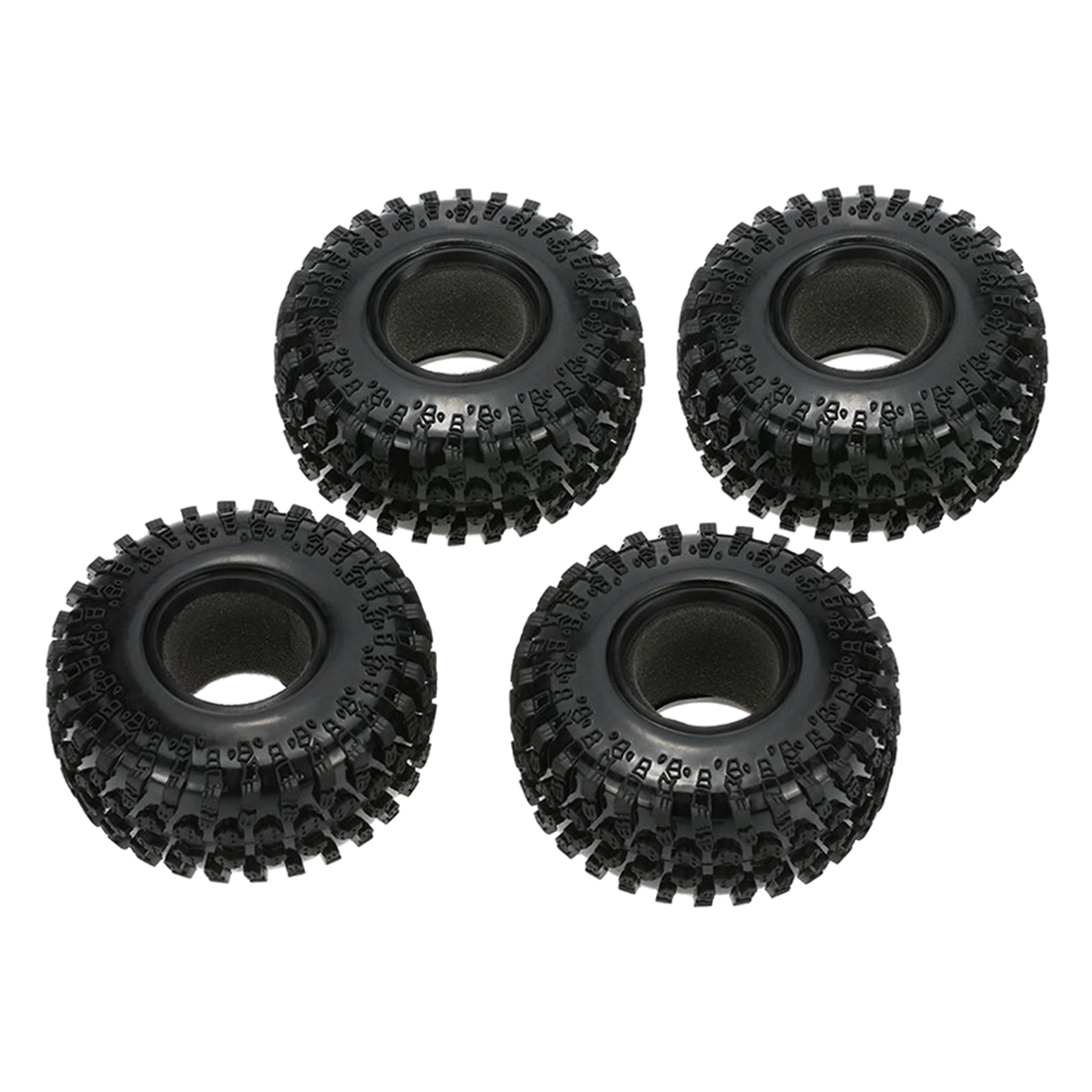 4 X 2.2 125mm 1/10 Scale Tires for RC4WD Axial SCX10 RC Rock Crawler Assemble Tool