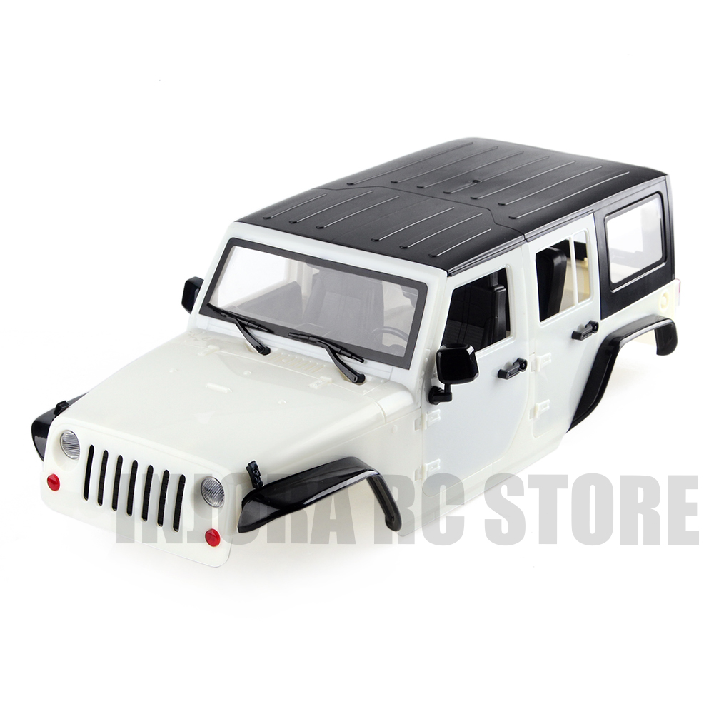 Image 3 - INJORA Unassembled 12.3inch 313mm Wheelbase Body Car Shell for 1/10 RC Crawler Axial SCX10 & SCX10 II 90046 90047 Jeep Wrangler-in Parts & Accessories from Toys & Hobbies