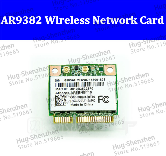 AR9382 AR5BHB116 300M Half Mini PCI Express Wireles WLAN WIFI Card 2.4G-5G
