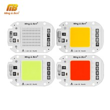 10PCS LED COB Lamp Chip AC110V 220V 20W 30W 50W Smart IC DIY For LED Floodlight Decor Red Green Blue Yellow Cold Warm Day White(China)
