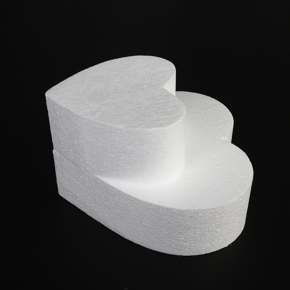 4/6/8/10 Inch Heart Shaped Polystyrene Styrofoam Sugar Craft Dummy Party DIY Practice Model Cake Foam Mold Kitchen Accessories