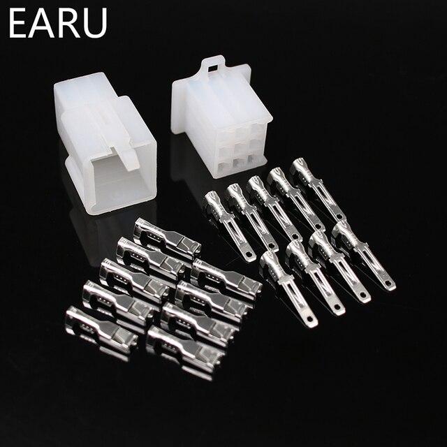 10 zestaw/partia 2.8mm 2/3/4/6/9 pin auto 2.8 złącze przewodu elektrycznego mężczyzna kabel żeński zestawy wtyczek końcowych motocyklowe ebike