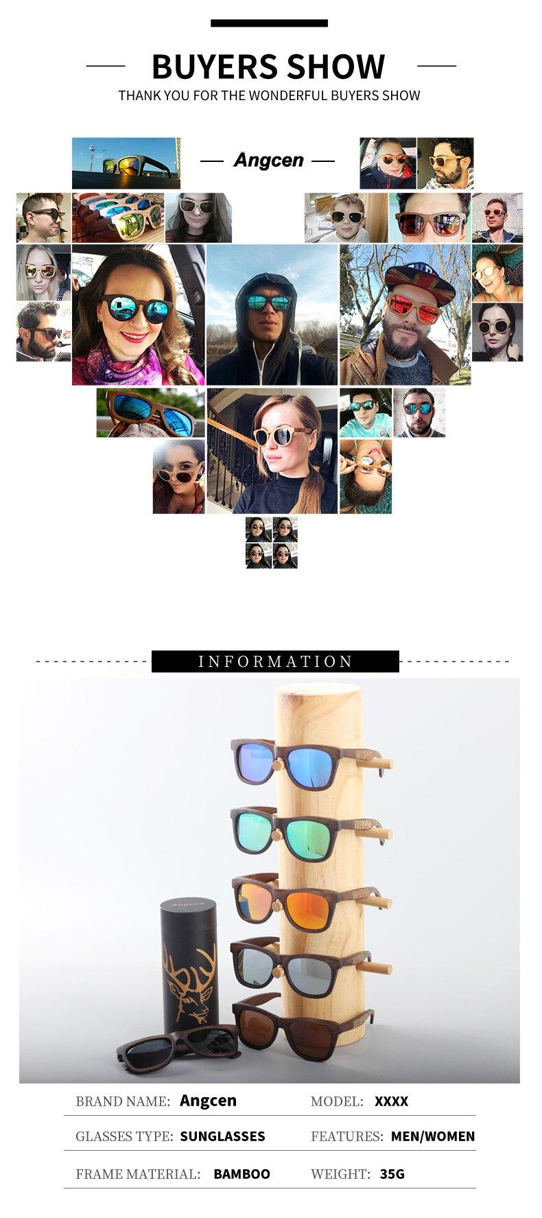 Angcen Unisex Polarized Sunglasses for Men Women 12