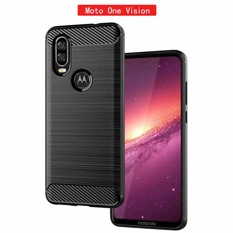 For Motorola One Vision Case Silicone Rugged Armor Soft Cover Case For Motorola Moto One Vision Phone Cases Fundas Coque