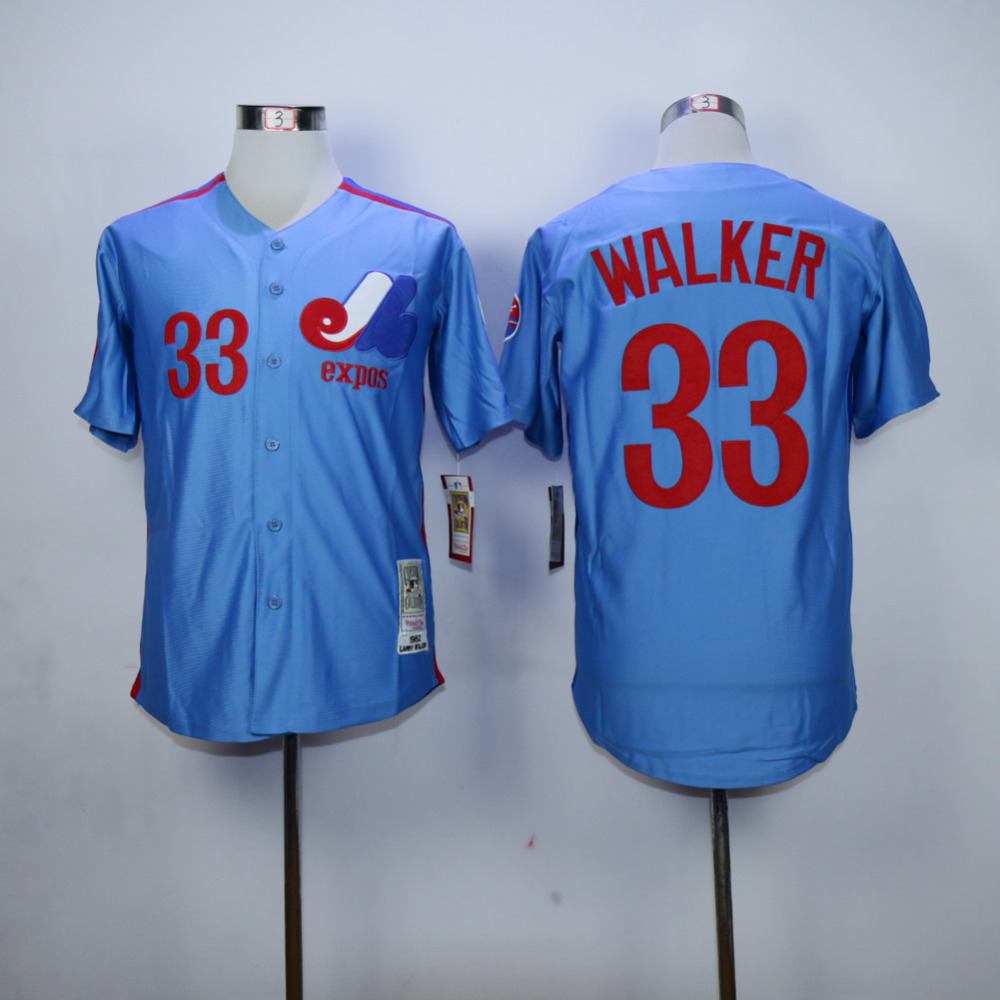 Larry Walker Jersey 33 Montreal Expos Baseball Jersey All stitched Retro Style More Color youth baseball jersey color white maroon size medium