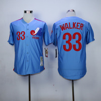 Larry Walker Jersey 33 Montreal Expos Baseball Jersey All Stitched Retro Style More Color