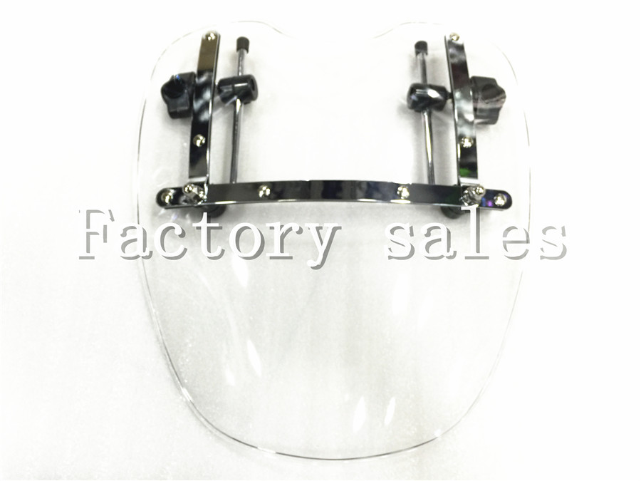 купить Free Shipping Brand New Motorcycle Windshield Windscreen for Harley Davidson Sportster Dyna Glide Softail XL 883 1200 White xl по цене 3010.25 рублей