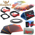 KnightX 24 Filter Graduated ND Set color cokin p series for Nikon Canon EOS 1200D 750D 700D 600D 100D lens 52 58 67 77 82 mm