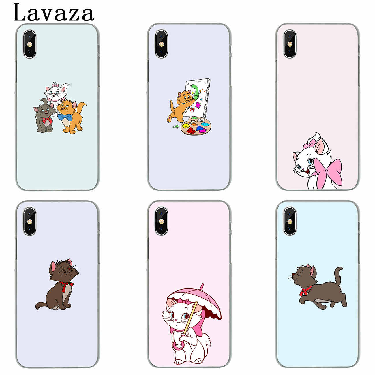 buy online 8ec2a 451fd Lavaza The cartoon AristoCats Marie Cat Hard Cover Case for Apple iPhone X  XS Max XR 6 6S 7 8 Plus 5 5S SE 5C 4S 10 Phone Cases
