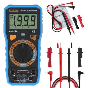 AN819A Digital Multimeter 1999Counts Backlight LCD AC DC Tester + Crocodile Clip