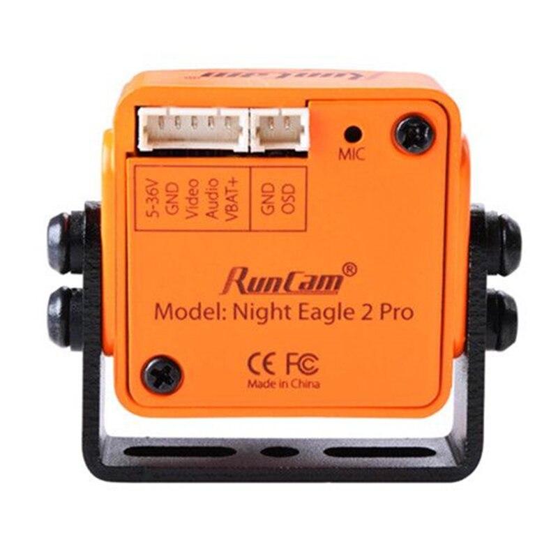 """Nuevo RunCam Night águila 2 PRO 1/1 cámara 8 """"CMOS 2,5mm 800TVL 0,00001 LUX 4:3 FPV con micrófono OSD integrado para Dron-in Partes y accesorios from Juguetes y pasatiempos    3"""