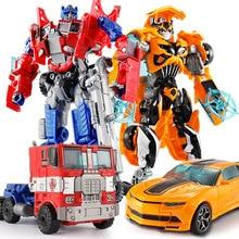 Top Sale 19.5cm Model Transformation Robot Car Action toys Plastic Toys Action Figure Toys BEST Gift For Education Children 7.5″