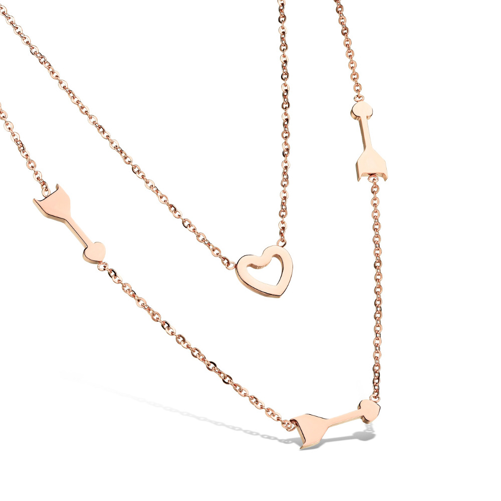 rose double image jewellery emporio from disc gold armani necklace
