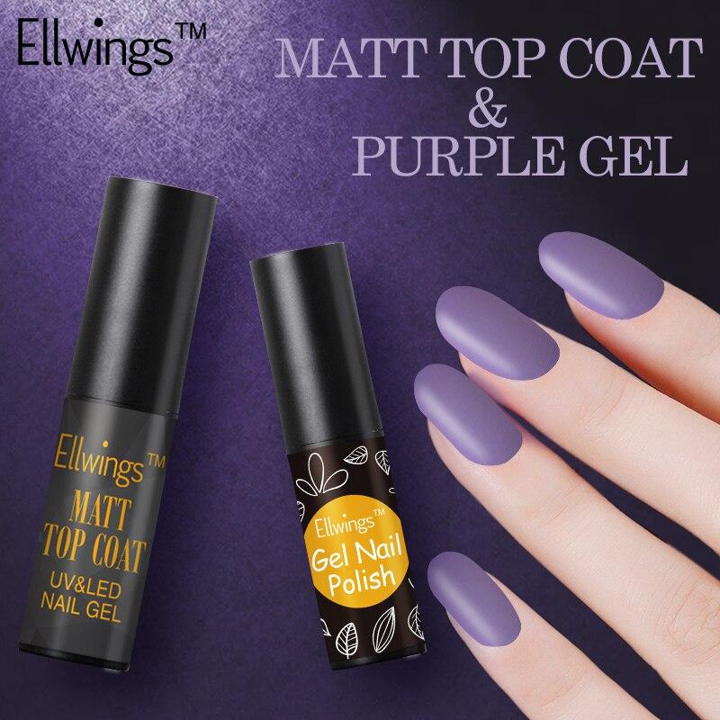 ellwings 2pcs matte top coat transparent