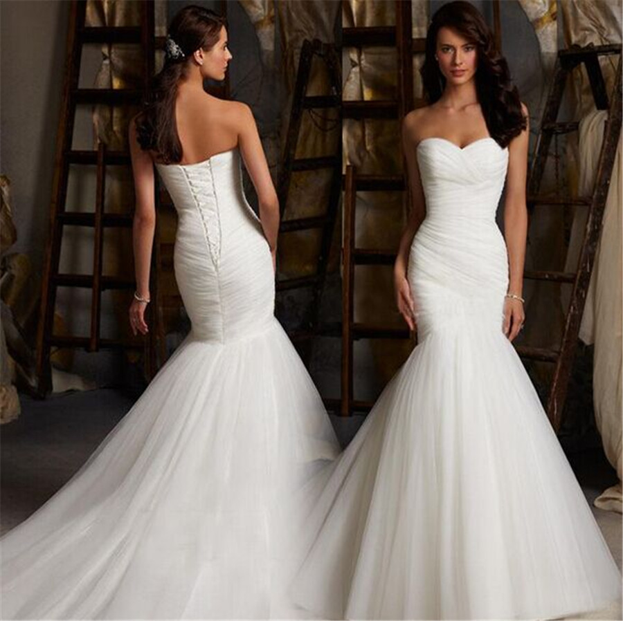 Sweetheart Mermaid Wedding Gown: Vestido De Novia Mermaid Wedding Dresses Plus Size Mermaid