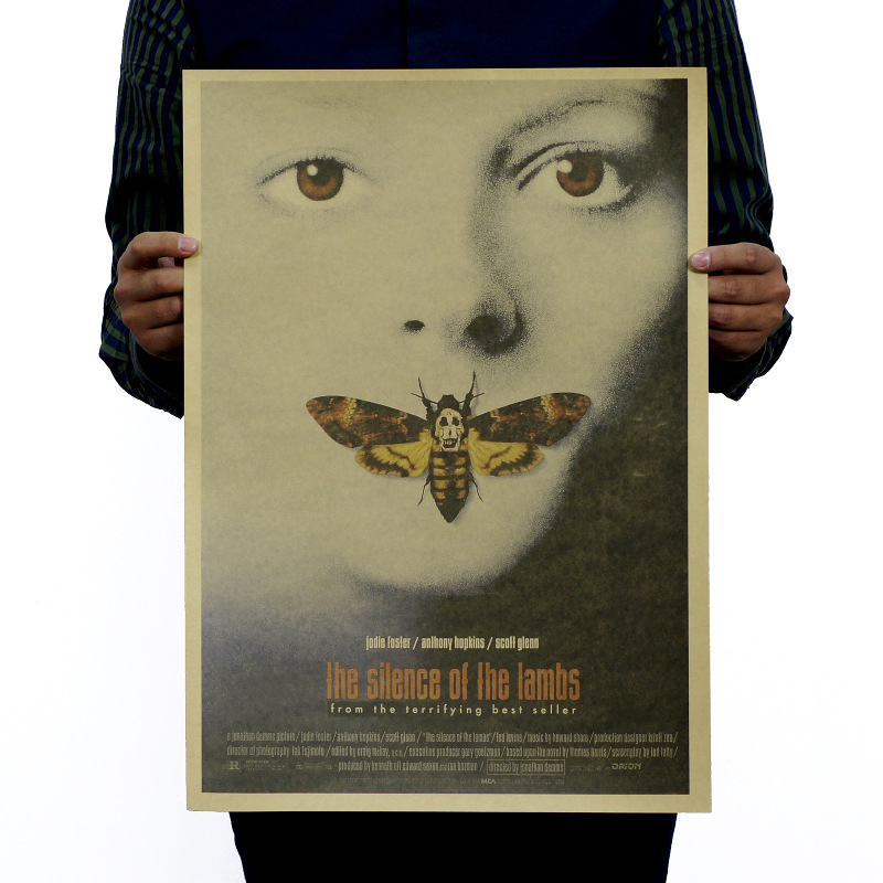 The Silence Of The Lambs Vintage Kraft Paper Classic Movie Poster Magazine   Art  Cafe Bar Decoration Retro Posters And Prints