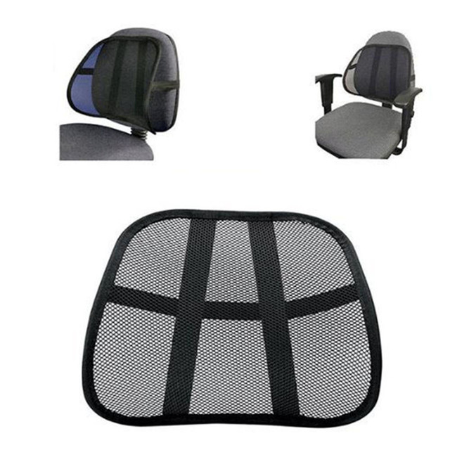 Office Chair Support Best Foldable Lawn Chairs Cool Breathable Mesh Lumbar Cushion Seat Back Muscle Car Home Pain Relief Travel Tj