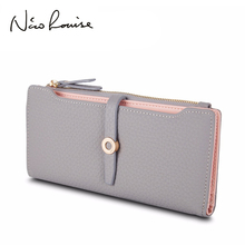 Top Quality Latest Lovely Leather Long Women Wallet Fashion