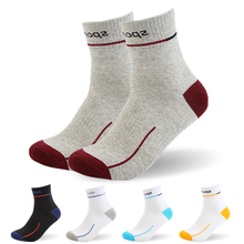 5Paris Lot HOT 2016 Men Cycle Socks High elasticity Outdoor Stockings Sports Sock Deodorization Breathable Cotton
