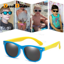 цена на Flexible Polarized Kids Sunglasses Child Black Sun Glasses for Baby Girls Boy Sunglasses Eyeglasses 2-11 Years Kids Glasses 2019