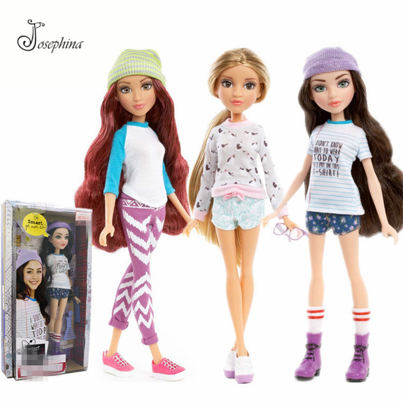 Really Really Very Beautiful Josephina Long Hair Big Eyes Fashion Girl Doll 28cm 3D Eyes Camryn Coyle BJD Dolls Toys for Girl original winx club bloom musa beautiful girl magiche fan doll collection toys