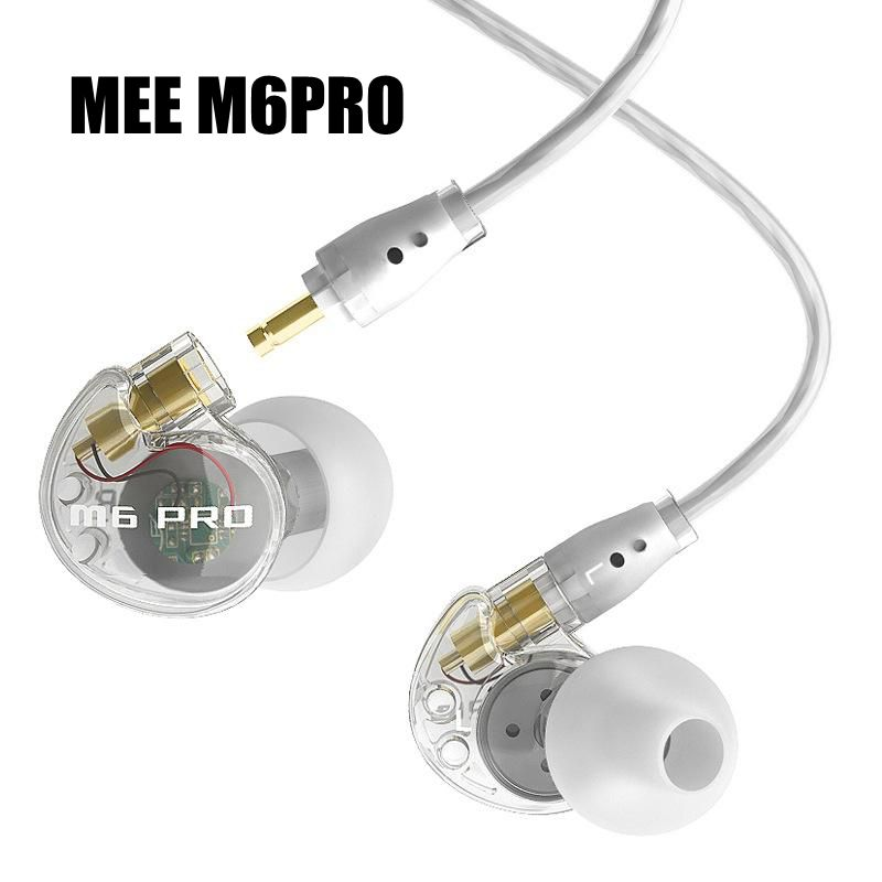 Shipping within 24Hrs Wired earphone MEE audio M6 PRO Universal-Fit Noise-Isolating earphones Musician's In-Ear Monitors headset dhl free 2pcs black white m6 pro universal 3 5mm wired in ear earphone noise isolating musician monitors brand new headphones
