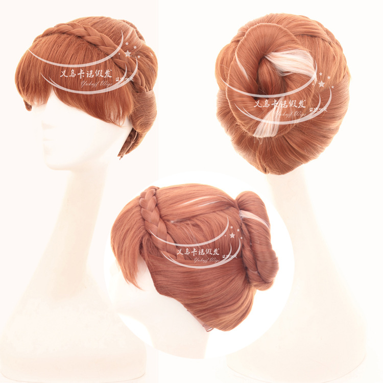 цена на High quality Queen Elsa hair accessories synthetic hair jewelry for Princess Anna cosplay wigs