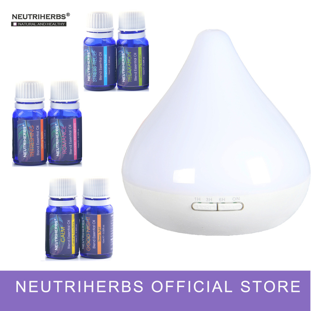 Compound Essential Oils and 300ml Aroma Fragrance Diffuser Set for Body Massage Bath Relaxation Refreshing essential mathematics for economics and business