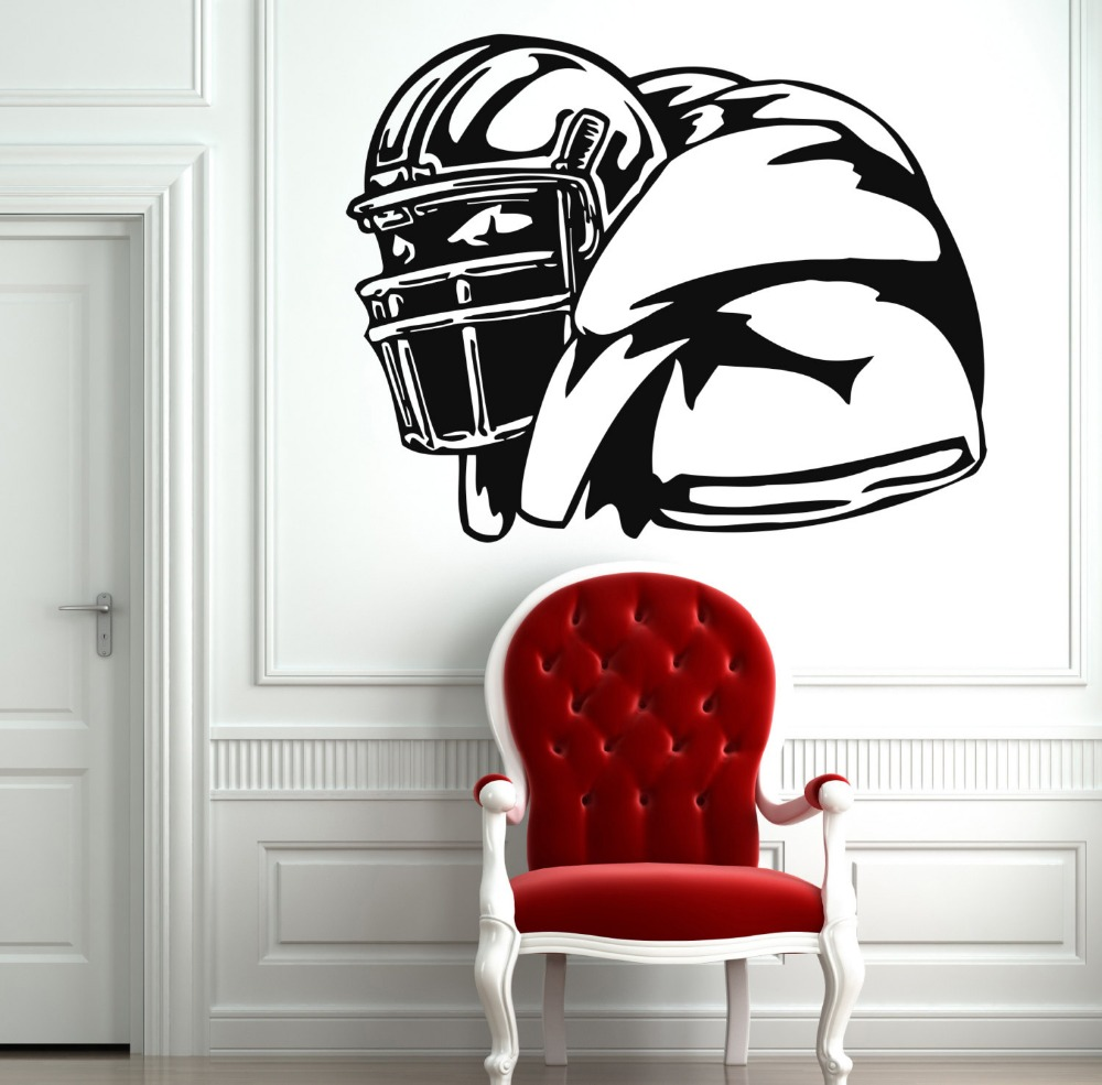 Rugby stickers american football sports wall vinyl decals home interior murals art decoration gym wall stickers home decor a67