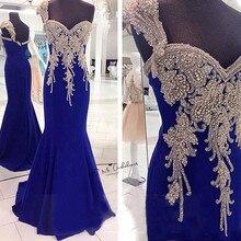 Роскошное платье на одно плечо с кристаллами для выпускного вечера, длинное платье для женщин, официальное вечернее платье в стиле русалки, шифоновое пышное платье Vestidos de Formatura