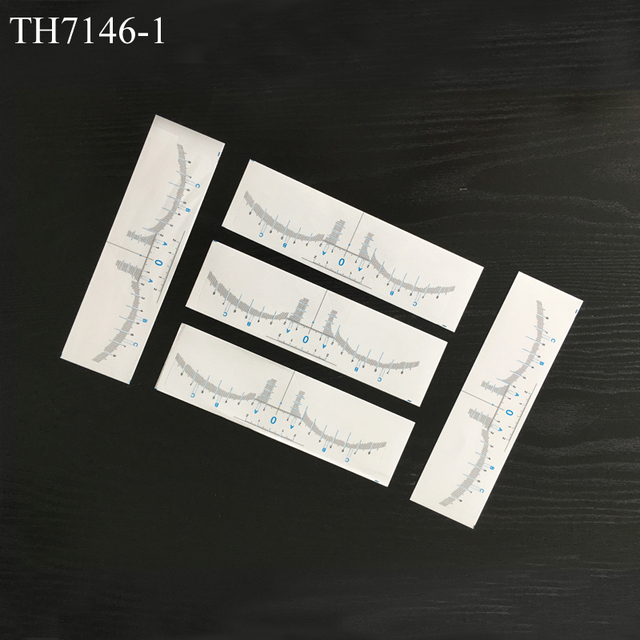 50pcs Disposable Microblading Eyebrow Ruler Sticker Permanent Makeup Accessories 3D Eyebrow Shaping Stencil Tool Tattoo Supplies 1