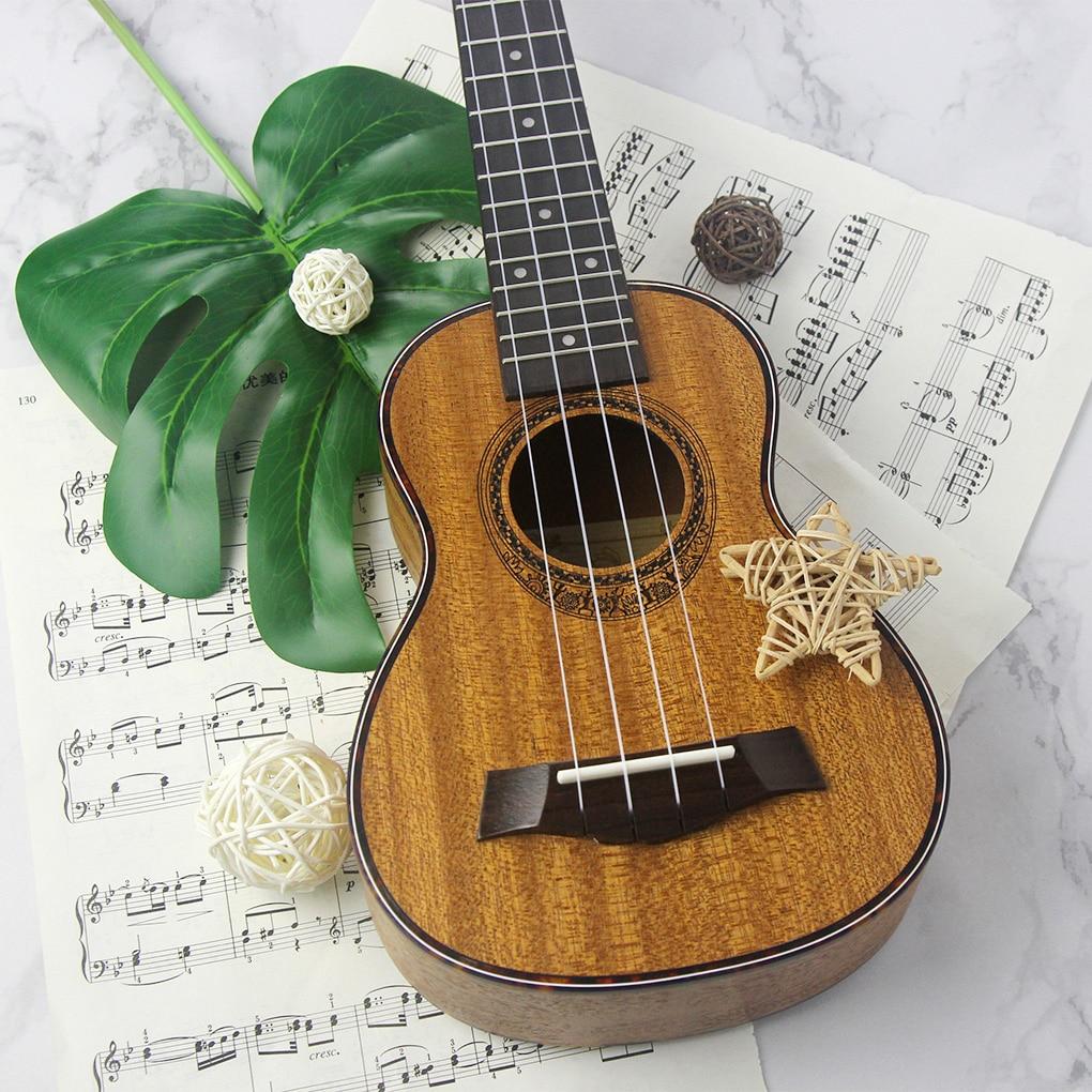 Stringed Instruments Learned Fleor Mahogany Ukulele 21 Soprano Ukulele 4 Strings Hawaii Guitar Rosewood Fingerboard Bridge 15 Frets Music Instrument