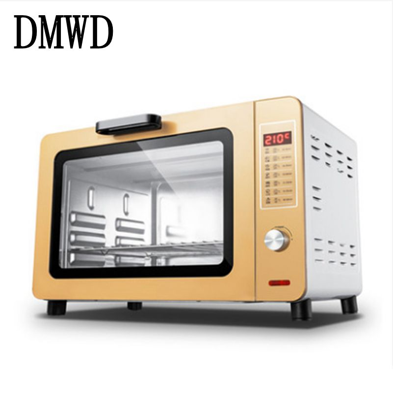 DMWD Multifunction Household Electric pizza Oven 1500W 30L large Capacity Independent Temperature Control bread Baking Machine pfml nb400 stainless steel high temperature deck baking pizza oven machine for pizza shop