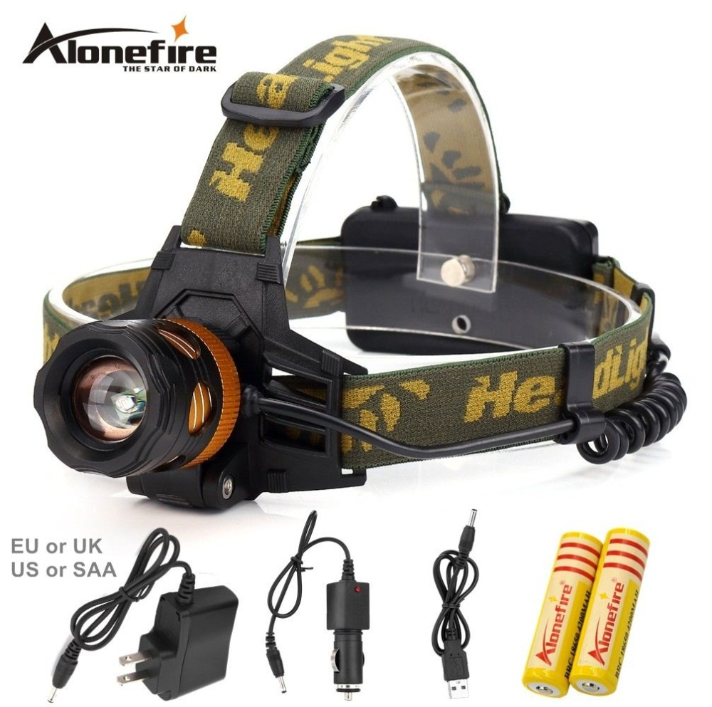 AloneFire HP82 Headlight CREE XPE-Q5 LED Headlamp 18650 Battery Powered Head Lamp Torch LED Flashlight Torch for Fishing Camping alonefire rx2 rwg cree q5 led red white green light multi function railway signal light flashlight torch lamp for 3xaaa or 18650