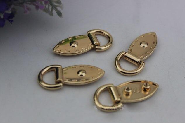 68abe10738e Aliexpress.com  Comprar 10 unids lote paquete dorado Pálido DIY forma de la  hoja con el lado de la anillo babilla tornillo en el clavo paquete de  accesorios ...