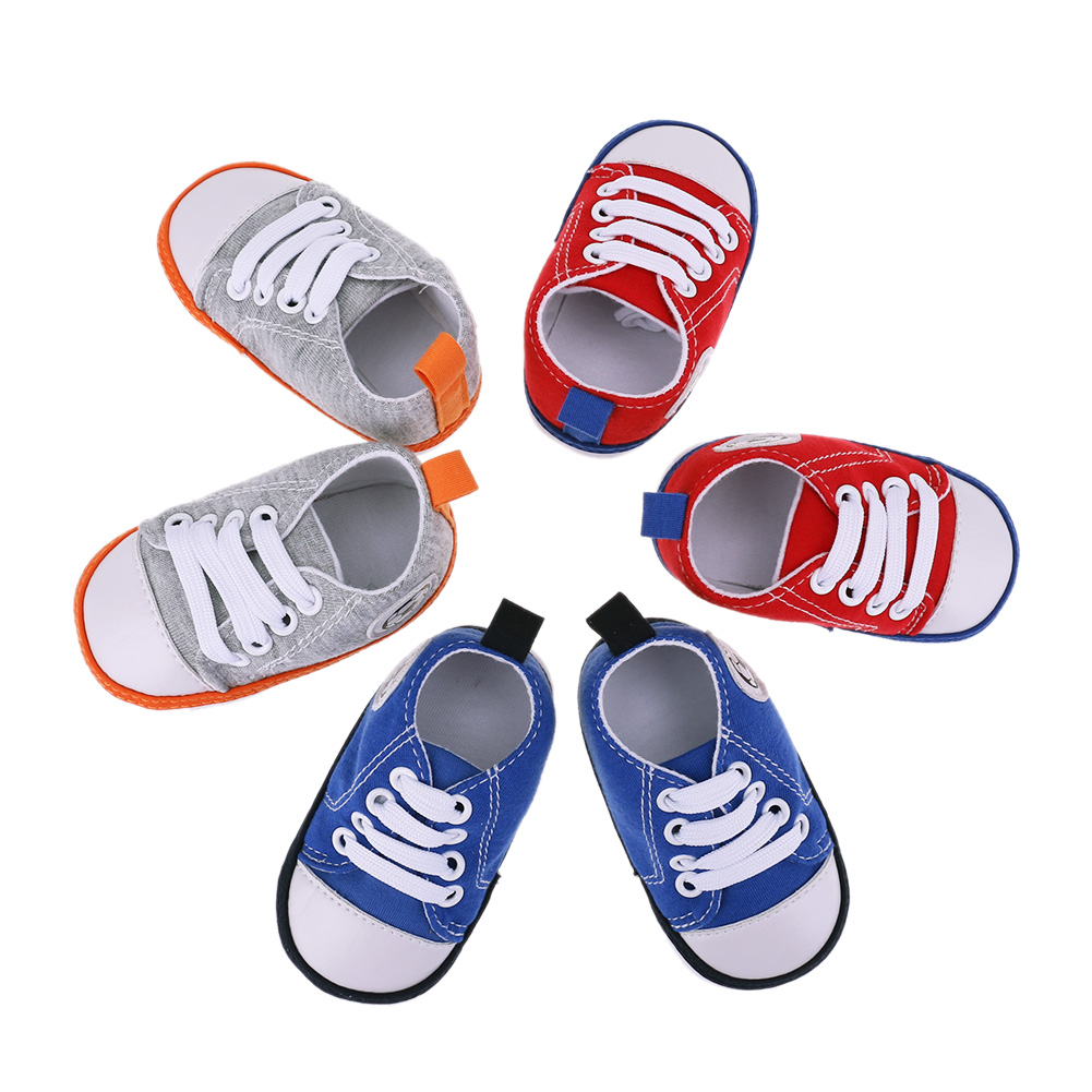 Baby Girls Boys Sports Shoes Newborn Soft Bottom Football Shoes Infant Toddlers Anti Slip Casual Shoes Baby Sneaker First Walker